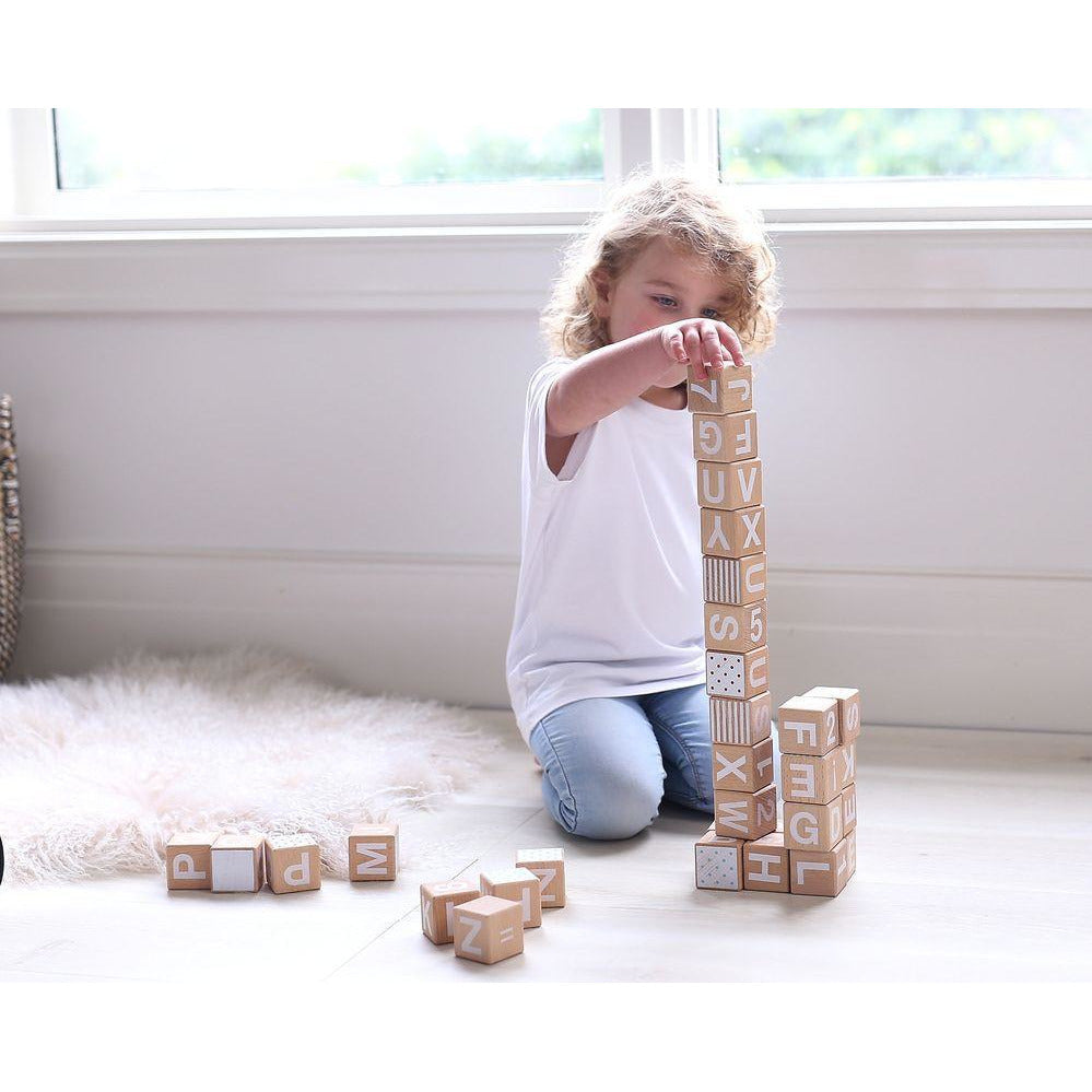 Babys First Wooden Block Set