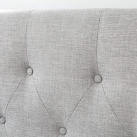 BLAKELY Double Upholstered Bed Storm Grey - Linen Fabric