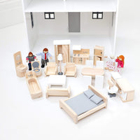 Doll Furniture & Doll Family Set