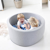 HipKids Grey Ball Pit with 200 Balls blue