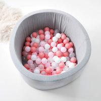 HipKids Grey Ball Pit with 200 Balls pink