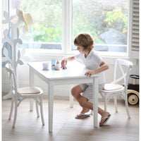 Kids Hampton 2 Chairs & Table Set White