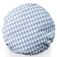 Large 70cm Round Floor Cushion (DIAMOND PRINT) grey