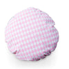 Large 70cm Round Floor Cushion (DIAMOND PRINT) pink