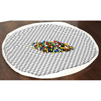 Lego playmat & toy storage bag (patterned) Grey Diamond