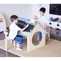 Playhouse with Reversible Chalkboard Table-