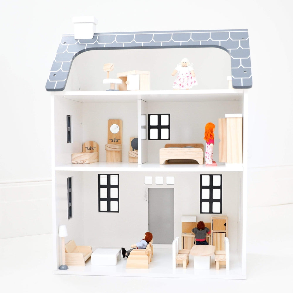 MADE IN AMERICA ART DECO TEA TIME Dollhouse Miniature Picture FAST DELIVERY