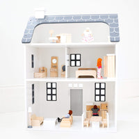 Remi's Doll House w/ Doll Family & Furniture Set