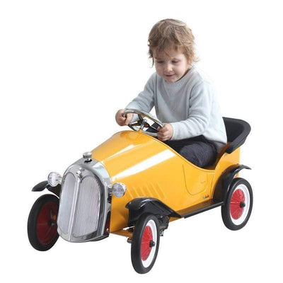 Ride On Steel Vintage Pedal Car Yellow