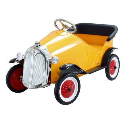 Ride On Steel Vintage Pedal Car-Yellow