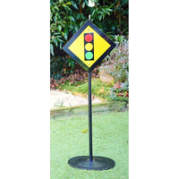 Steel Toy Road Sign - Traffic Light-