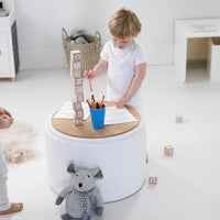 Store & Play Toy Box / Bedside Table White