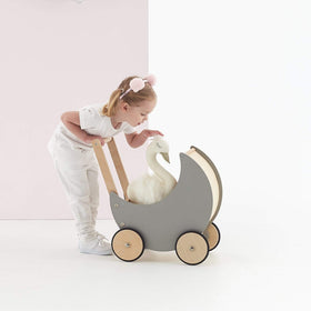 Wooden Moon Doll Pram