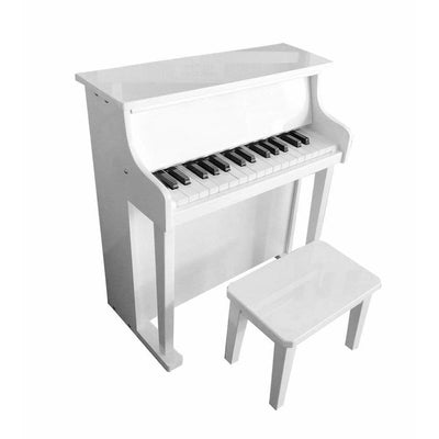Wooden Musical Toy Piano White