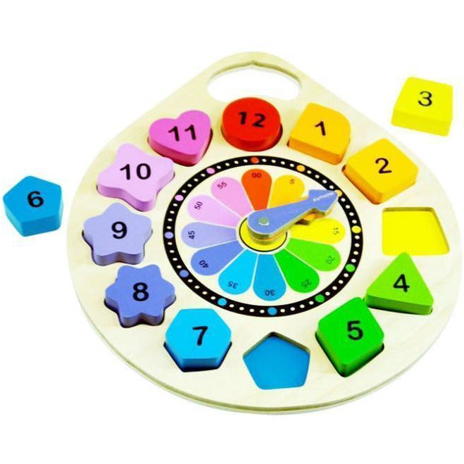 Kiddie Connect - Wooden Clock Puzzle-