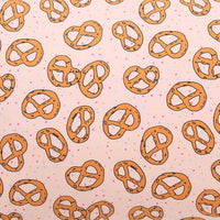 Kip and Co Pretzel Pink Cotton Fitted Sheet