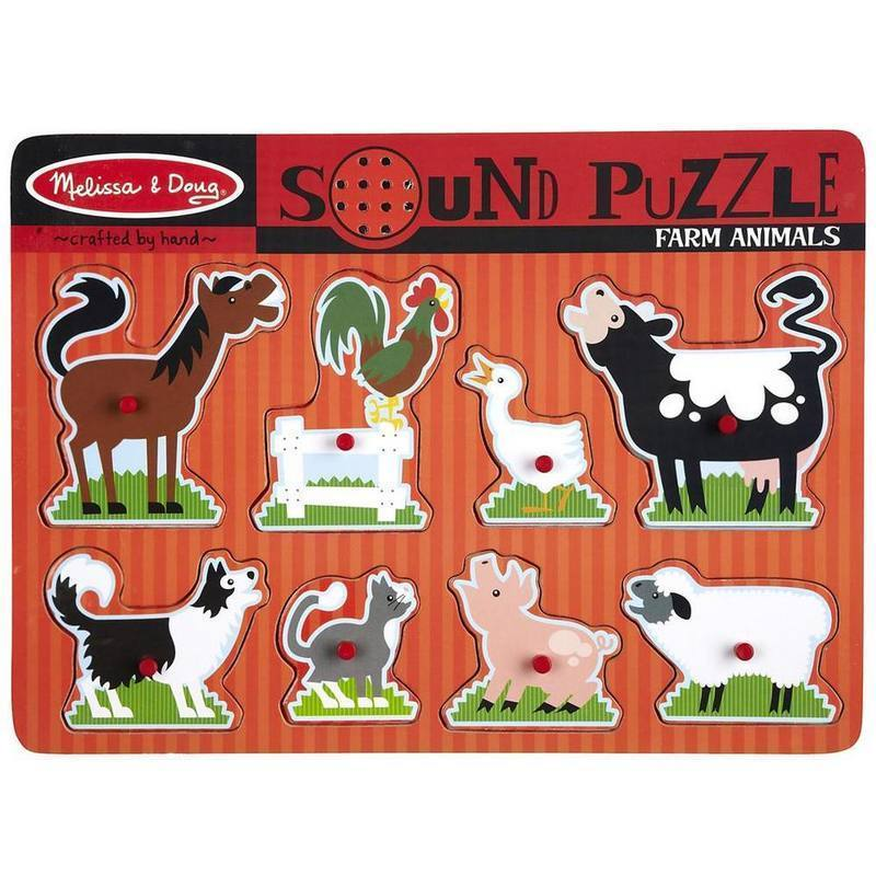 Melissa & Doug - Farm Animals Sound Puzzle 8pce-