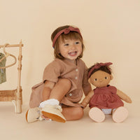 Olli Ella Dinkum Doll Travel Togs Rose