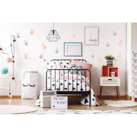 Bunny Rabbit Wall Decal Stickers Pink Silver