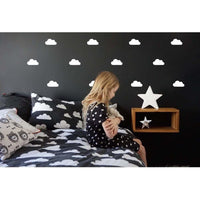 Cloud Wall Decal Stickers-Black