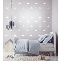 Cloud Wall Decal Stickers-White