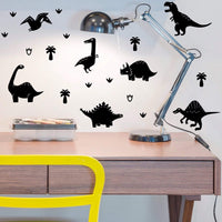 Dinosaur Decal Wall Stickers Black