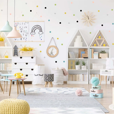 Dots Wall Decal Stickers Pastel