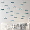 POM POM Car Wall Decal Stickers Blue