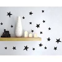 Star Wall Decal Stickers Black