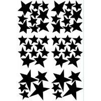 Star Wall Decal Stickers-Black