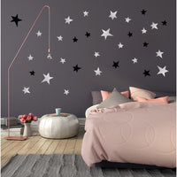 Star Wall Decal Stickers Black Grey