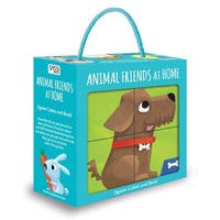 Sassi Cube Puzzle and Book - My Animal Friends at Home