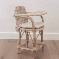 Tiny Harlow Rattan Dolls Highchair