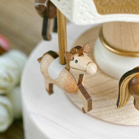 Wooderful Life Double Up & Down Music Box - Horses Carousel
