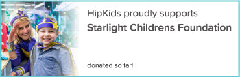 Hip Kids proudly supports Starlight Childrens Foundation