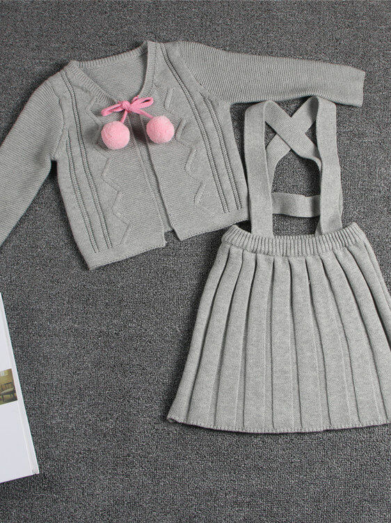 gray Skirt Set