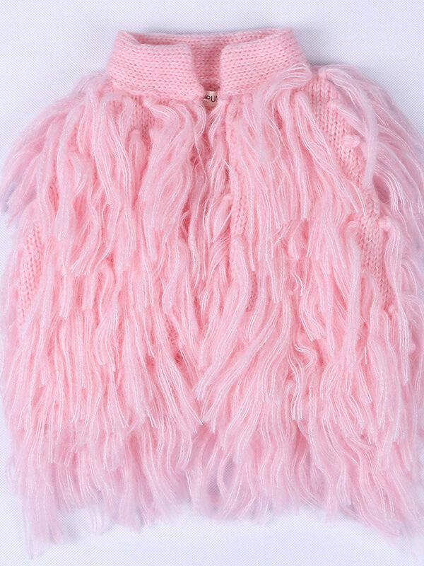 Sleeveless Fringed Sweater Knitted Vest Top