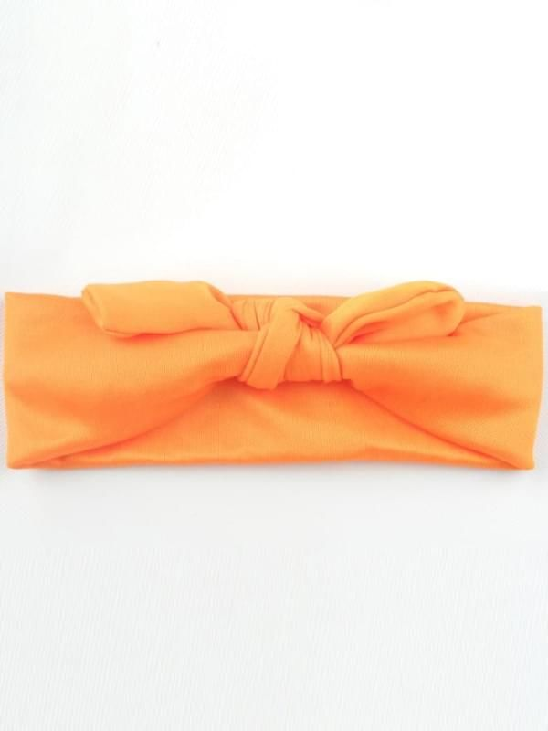 Solid Color Hairband - orange
