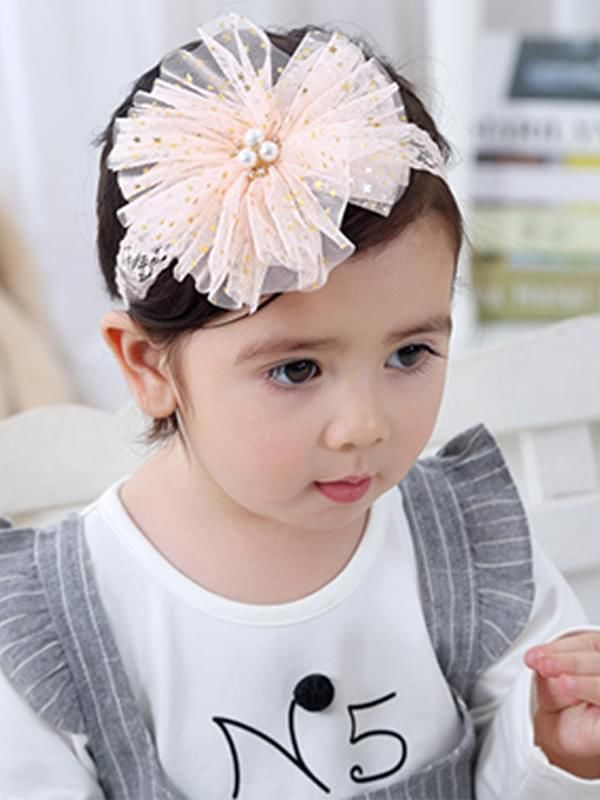 Big Flower Head-wear Lace Elastic Headband for Baby Toddler Girls