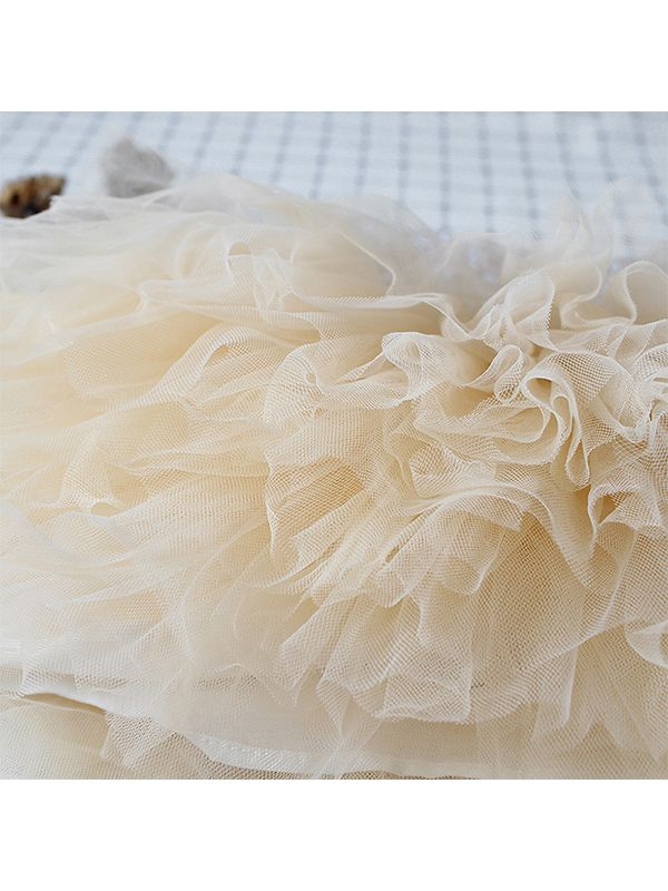 Paneled Spanish Style Tulle TUTU PRINCESS DRESS