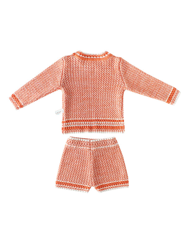 2-piece Knitted Wear Outfits - Pink