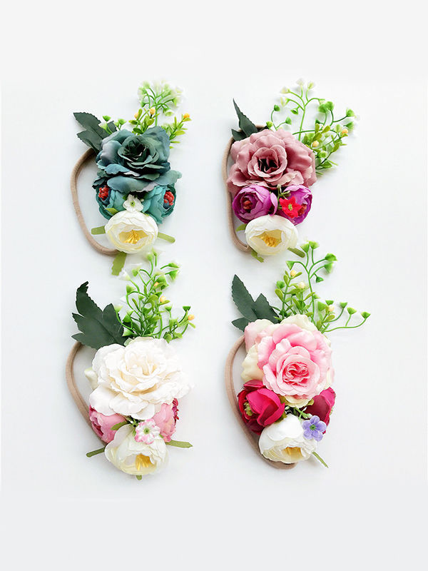 Colorful Artificial Flower Headband