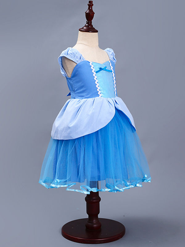 Sleeveless Strapped Splicing Custome Party Wear Princess Dress