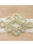 Fashion Rhinestone Lace Headband Rhombus Wedding Hairband Kids' Hair Decorations