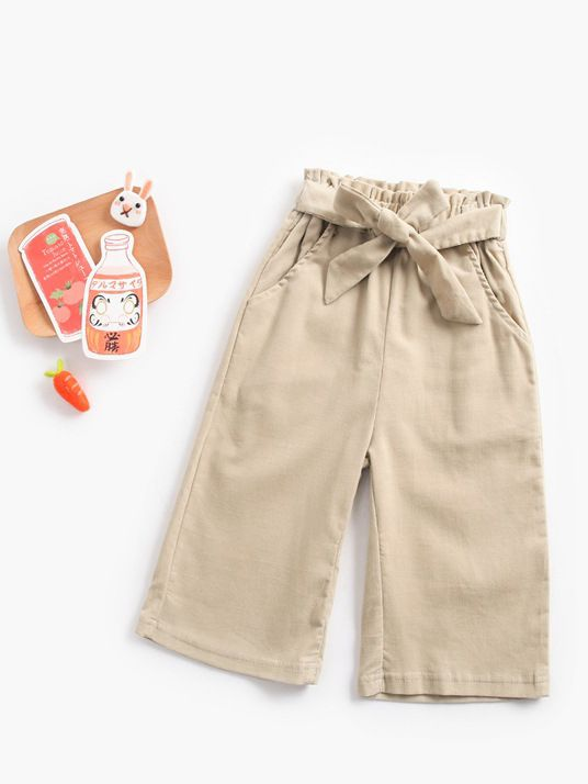 Toddler Girls  Solid Color Pants
