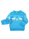 blue Knitting Sweatshirt
