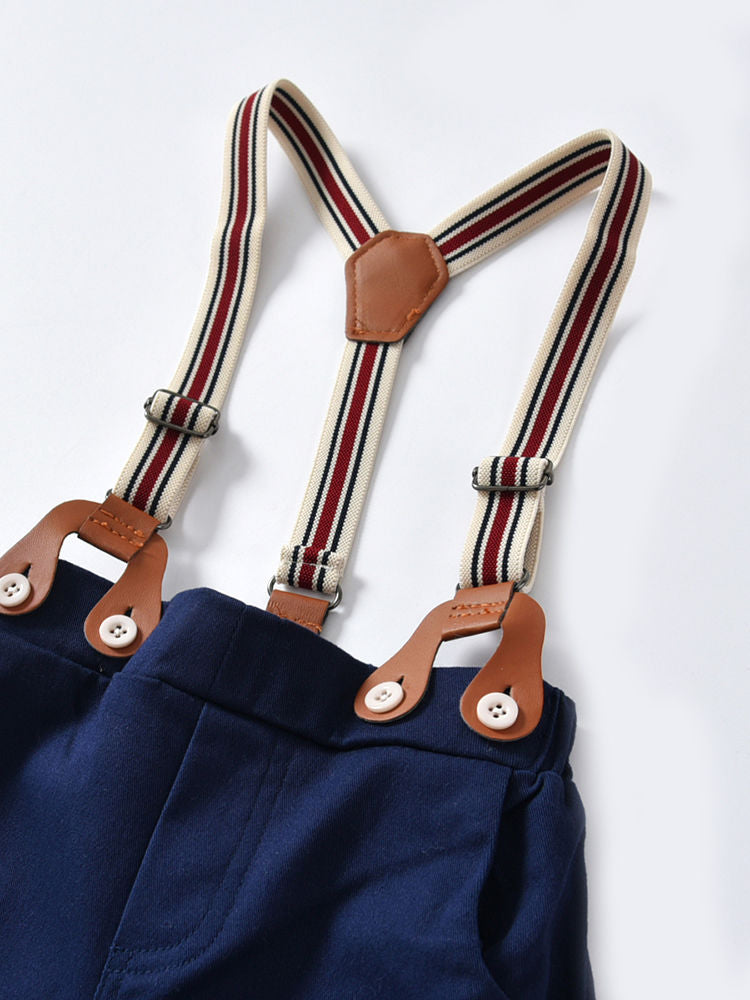 Shoulder Straps Blue Pants
