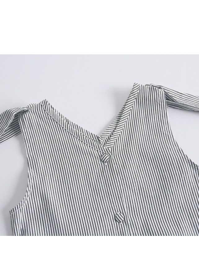 Bunny Ear Style Stripe Sundress