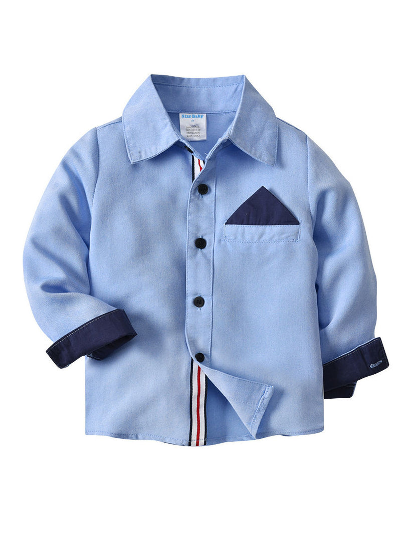 Long Sleeve Fit Plaid Oxford Shirt for Toddler Big Boys
