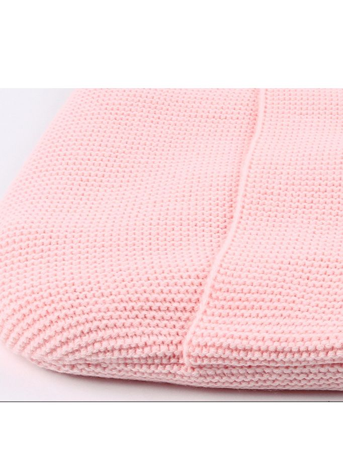 Solid Color Knitted Baby Sleeping Bag Buttoned Infant Sleepsuit